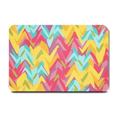 Paint Strokes Abstract Design Small Doormat by LalyLauraFLM