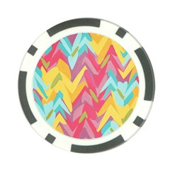 Paint Strokes Abstract Design Poker Chip Card Guard (10 Pack) by LalyLauraFLM
