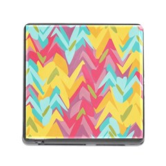 Paint Strokes Abstract Design Memory Card Reader With Storage (square) by LalyLauraFLM