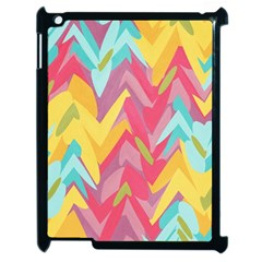 Paint Strokes Abstract Design Apple Ipad 2 Case (black) by LalyLauraFLM