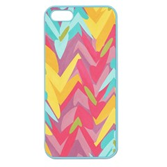 Paint Strokes Abstract Design Apple Seamless Iphone 5 Case (color) by LalyLauraFLM