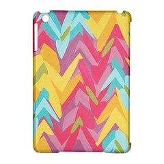 Paint Strokes Abstract Design Apple Ipad Mini Hardshell Case (compatible With Smart Cover) by LalyLauraFLM