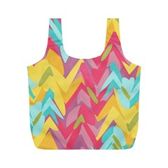 Paint Strokes Abstract Design Full Print Recycle Bag (m) by LalyLauraFLM