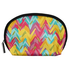 Paint Strokes Abstract Design Accessory Pouch (large) by LalyLauraFLM