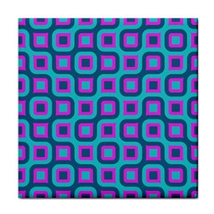 Blue Purple Squares Pattern Tile Coaster by LalyLauraFLM