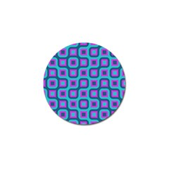 Blue Purple Squares Pattern Golf Ball Marker (4 Pack) by LalyLauraFLM
