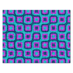 Blue Purple Squares Pattern Jigsaw Puzzle (rectangular) by LalyLauraFLM