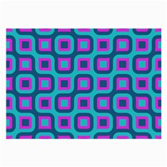 Blue Purple Squares Pattern Glasses Cloth (large) by LalyLauraFLM