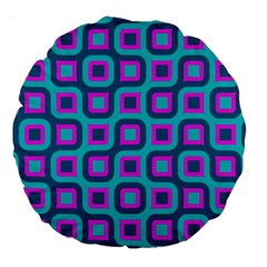 Blue Purple Squares Pattern 18  Premium Round Cushion  by LalyLauraFLM