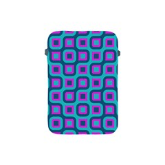 Blue Purple Squares Pattern Apple Ipad Mini Protective Soft Case by LalyLauraFLM