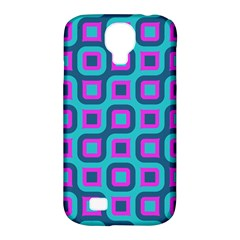 Blue Purple Squares Pattern Samsung Galaxy S4 Classic Hardshell Case (pc+silicone) by LalyLauraFLM