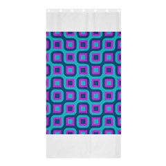 Blue Purple Squares Pattern Shower Curtain 36  X 72  (stall) by LalyLauraFLM