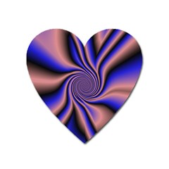 Purple Blue Swirl Magnet (heart) by LalyLauraFLM