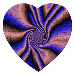 Purple Blue Swirl Jigsaw Puzzle (heart) by LalyLauraFLM