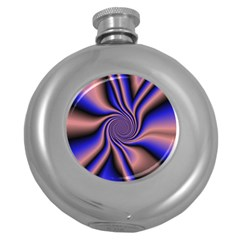 Purple Blue Swirl Hip Flask (5 Oz) by LalyLauraFLM