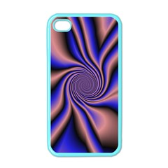 Purple Blue Swirl Apple Iphone 4 Case (color) by LalyLauraFLM
