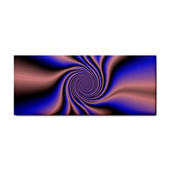 Purple Blue Swirl Hand Towel by LalyLauraFLM