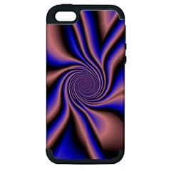 Purple Blue Swirl Apple Iphone 5 Hardshell Case (pc+silicone) by LalyLauraFLM