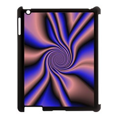 Purple Blue Swirl Apple Ipad 3/4 Case (black) by LalyLauraFLM