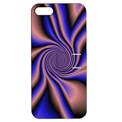 Purple Blue Swirl Apple Iphone 5 Hardshell Case With Stand by LalyLauraFLM