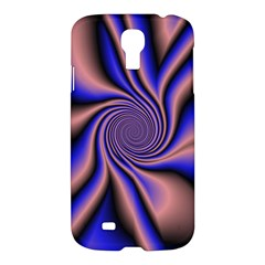 Purple Blue Swirl Samsung Galaxy S4 I9500/i9505 Hardshell Case by LalyLauraFLM