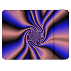 Purple Blue Swirl Samsung Galaxy Tab 7  P1000 Flip Case by LalyLauraFLM