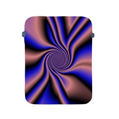Purple Blue Swirl Apple Ipad 2/3/4 Protective Soft Case by LalyLauraFLM