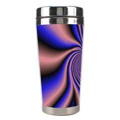 Purple Blue Swirl Stainless Steel Travel Tumbler by LalyLauraFLM