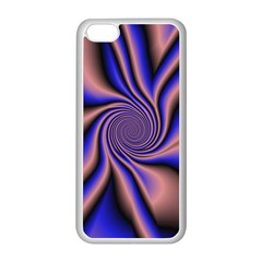 Purple Blue Swirl Apple Iphone 5c Seamless Case (white) by LalyLauraFLM