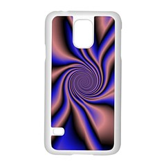 Purple Blue Swirl Samsung Galaxy S5 Case (white) by LalyLauraFLM