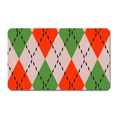 Argyle Pattern Abstract Design Magnet (rectangular) by LalyLauraFLM