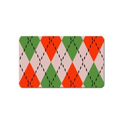 Argyle Pattern Abstract Design Magnet (name Card) by LalyLauraFLM