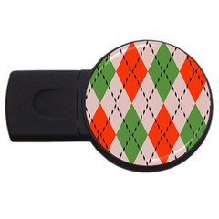 Argyle Pattern Abstract Design Usb Flash Drive Round (2 Gb) by LalyLauraFLM