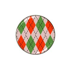 Argyle Pattern Abstract Design Hat Clip Ball Marker (4 Pack) by LalyLauraFLM