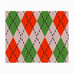 Argyle Pattern Abstract Design Glasses Cloth (small, Two Sides) by LalyLauraFLM