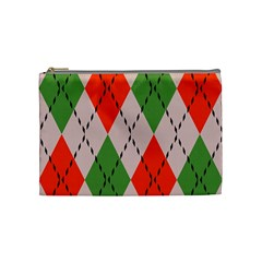 Argyle Pattern Abstract Design Cosmetic Bag (medium) by LalyLauraFLM