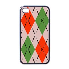Argyle Pattern Abstract Design Apple Iphone 4 Case (black) by LalyLauraFLM