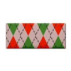 Argyle Pattern Abstract Design Hand Towel by LalyLauraFLM