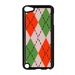 Argyle Pattern Abstract Design Apple Ipod Touch 5 Case (black) by LalyLauraFLM