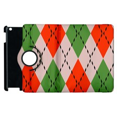 Argyle Pattern Abstract Design Apple Ipad 3/4 Flip 360 Case by LalyLauraFLM