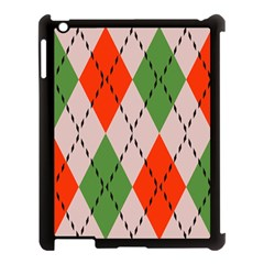 Argyle Pattern Abstract Design Apple Ipad 3/4 Case (black) by LalyLauraFLM