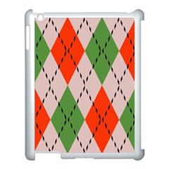 Argyle Pattern Abstract Design Apple Ipad 3/4 Case (white) by LalyLauraFLM