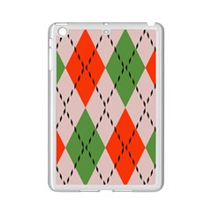 Argyle Pattern Abstract Design Apple Ipad Mini 2 Case (white) by LalyLauraFLM