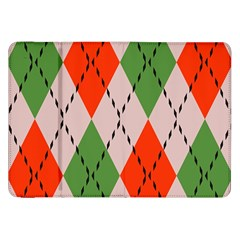 Argyle Pattern Abstract Design Samsung Galaxy Tab 8 9  P7300 Flip Case by LalyLauraFLM