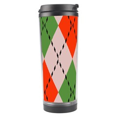 Argyle Pattern Abstract Design Travel Tumbler by LalyLauraFLM