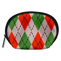 Argyle Pattern Abstract Design Accessory Pouch (medium) by LalyLauraFLM