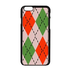 Argyle Pattern Abstract Design Apple Iphone 6 Black Enamel Case by LalyLauraFLM