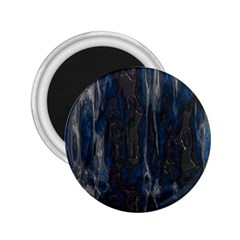 Blue Black Texture 2 25  Magnet by LalyLauraFLM