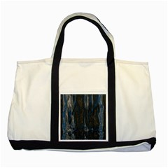 Blue Black Texture Two Tone Tote Bag by LalyLauraFLM