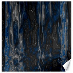 Blue Black Texture Canvas 20  X 20  by LalyLauraFLM